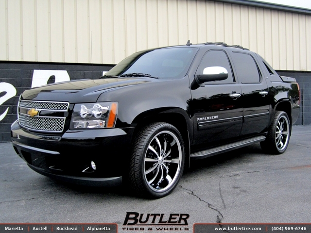 Chevrolet Avalanche With 24in Lexani Lss10 Wheels