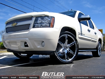 Chevrolet Avalanche with 24in Lexani R-Six Wheels