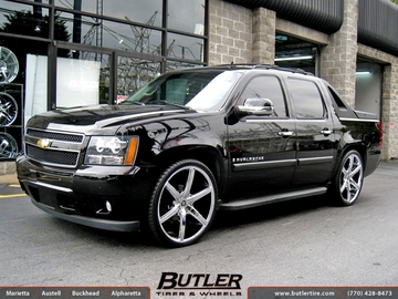 Chevrolet Avalanche with 26in Lexani R-Six Wheels
