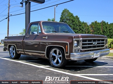 Chevrolet C10 with 18in US Mag 104 Wheels
