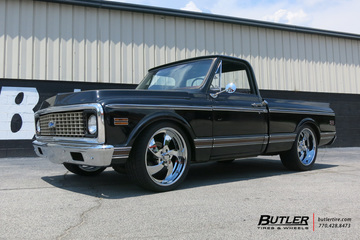 Chevrolet C10 with 22in US Mag Desperado 5 Wheels