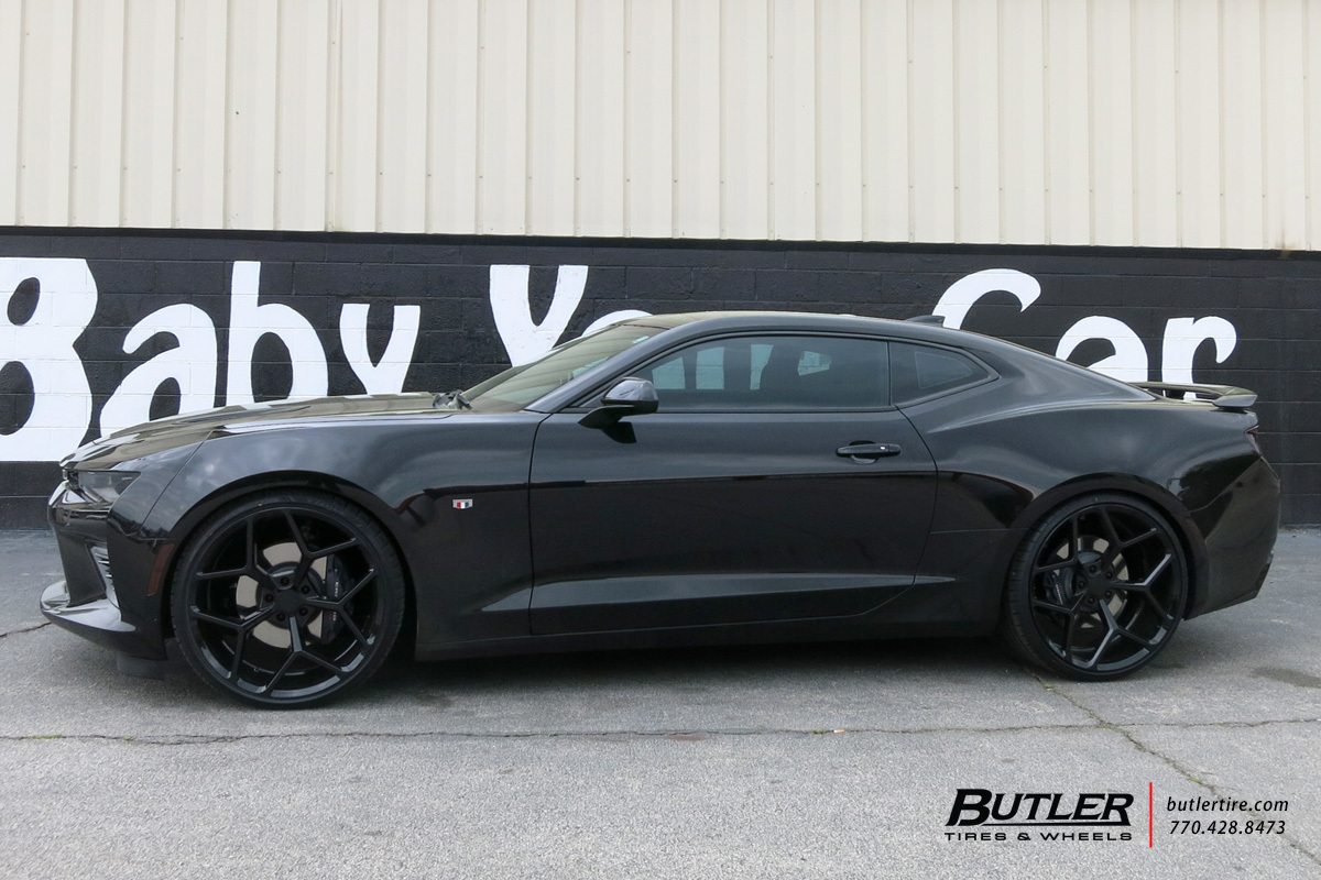 Chevrolet Camaro with 22in MRR M228 Wheels