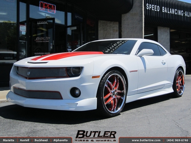 Chevrolet Camaro with 22in Savini BS2 Wheels