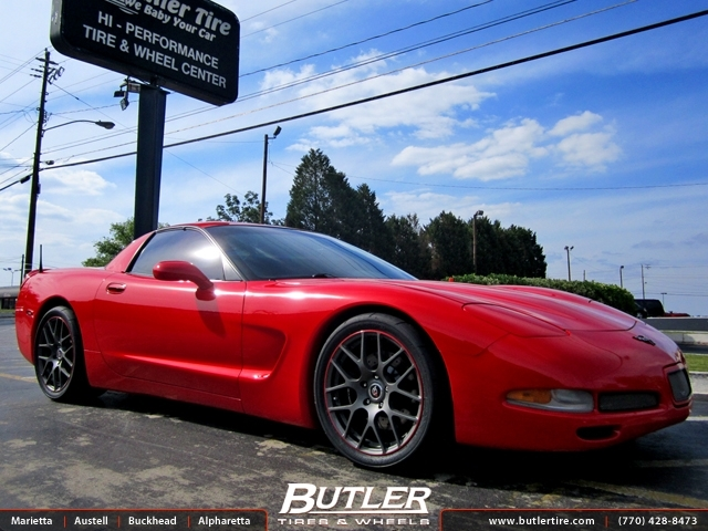 Chevrolet Corvette with 18in TSW Nurburgring Wheels