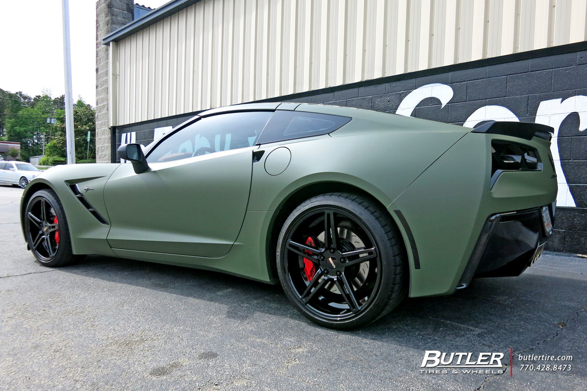 Chevrolet Corvette with 20in Cray Brickyard Wheels