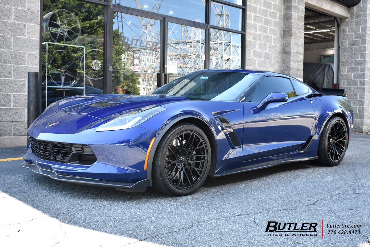 Chevrolet Corvette with 20in Cray Falcon Wheels