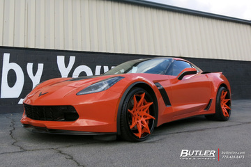 Chevrolet Corvette with 20in Forgiato Turni-ECL Wheels