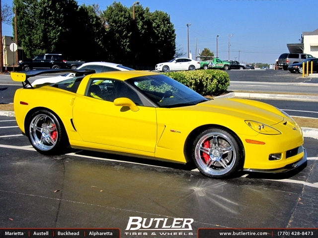 Chevrolet Corvette with 20in HRE 597 Wheels