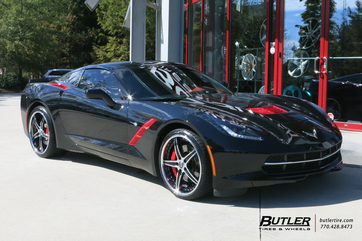 Chevrolet Corvette with 20in Lexani LF705 Wheels
