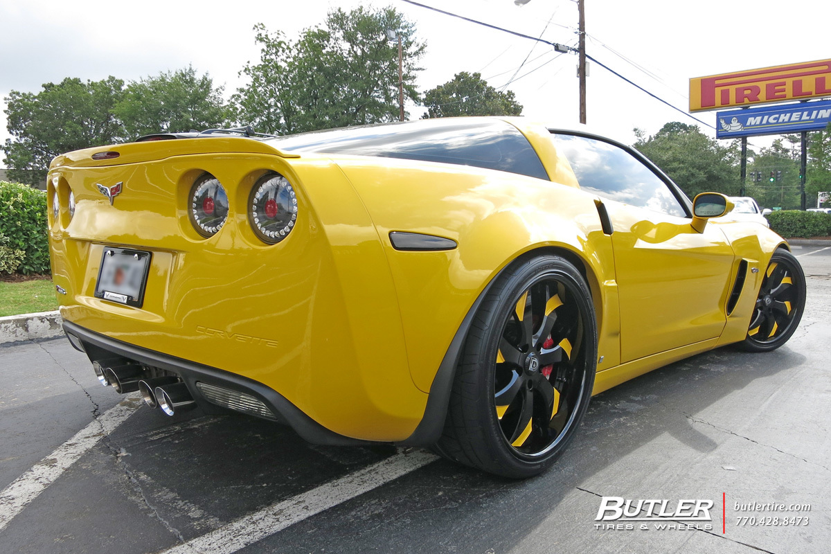 Chevrolet Corvette with 20in Lexani LF721 Wheels