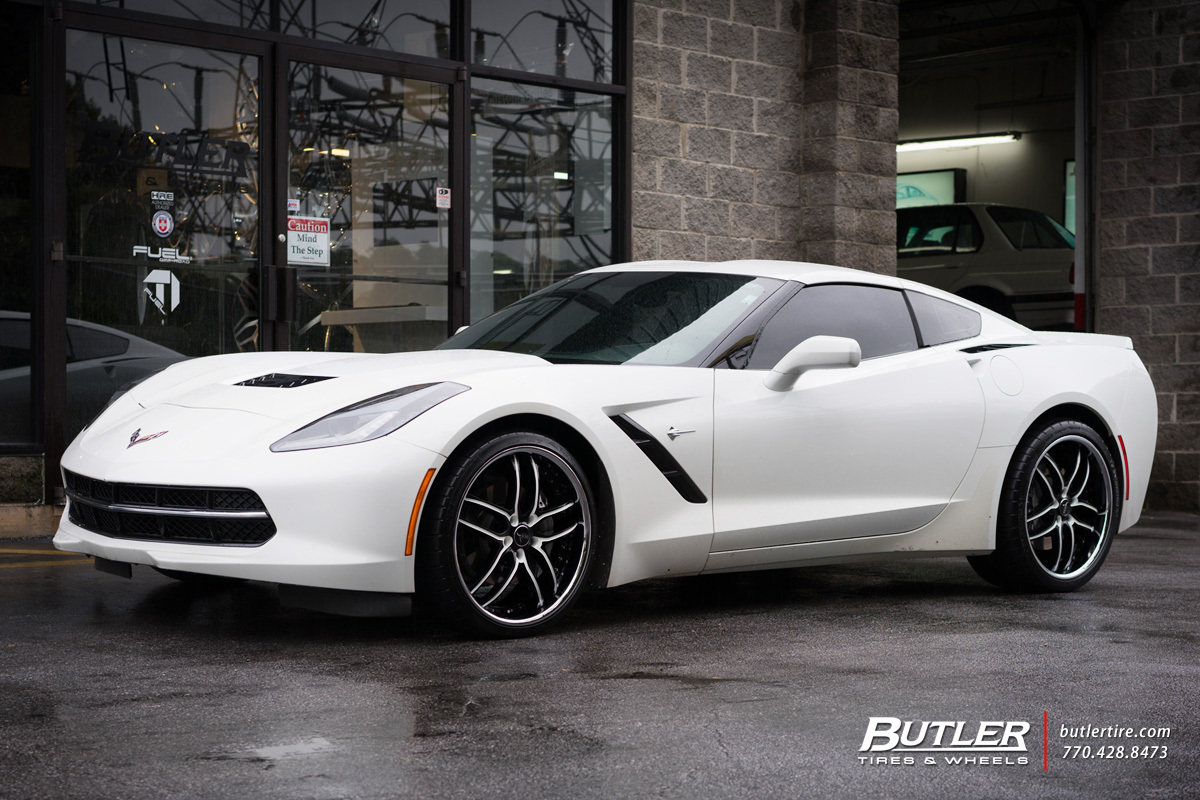 Chevrolet Corvette with 20in Savini BS2 Wheels
