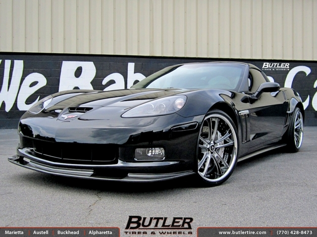 Chevrolet Corvette with 20in Savini SV43c Wheels