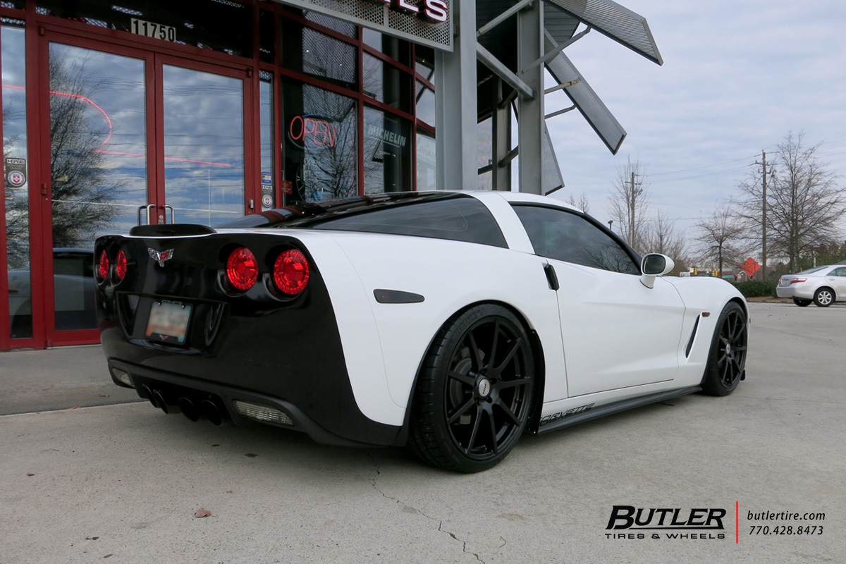 Chevrolet Corvette with 20in TSW Interlagos Wheels