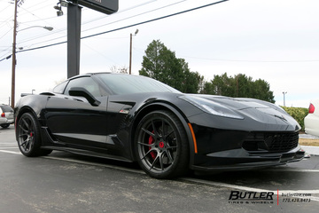 Chevrolet Corvette with 20in Vorsteiner VFE 401 Wheels