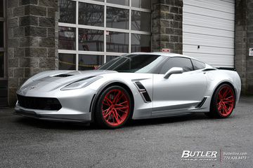 Chevrolet Corvette with 20in Vossen M-X6 Wheels