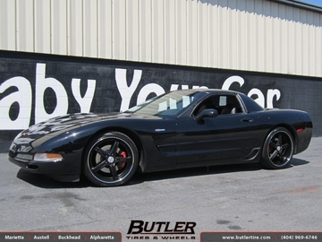 Chevrolet Corvette with 20in Vossen VVS087 Wheels