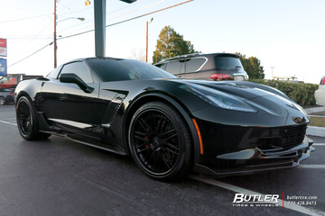 Chevrolet Corvette with 21in Avant Garde AGL10 Wheels