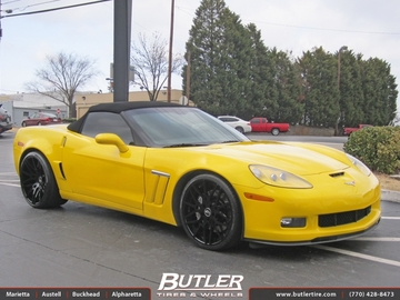 Chevrolet Corvette with 21in Forgiato Maglia ECL Wheels