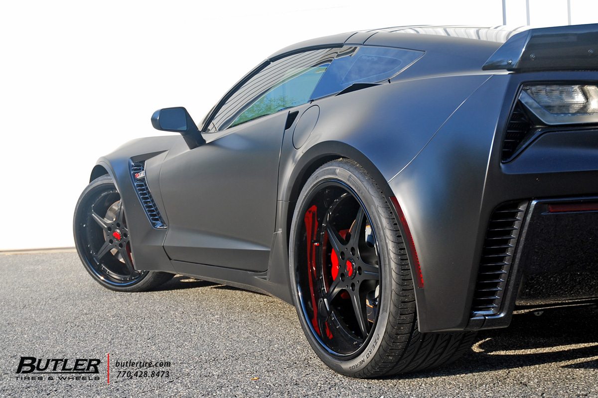 Chevrolet Corvette with 21in Forgiato Quinto Wheels