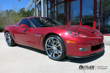 Chevrolet Corvette with 21in Savini SV43c Wheels