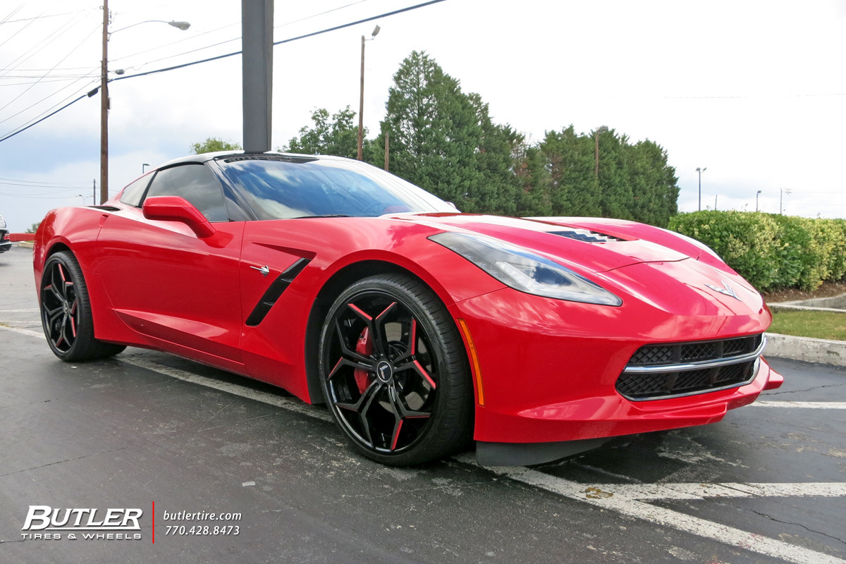 Chevrolet Corvette with 21in Vellano VCX Wheels
