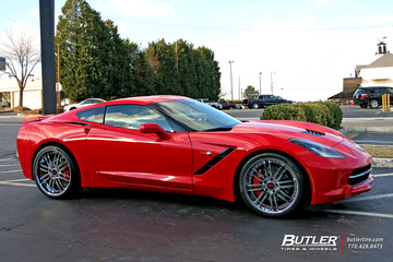 Chevrolet Corvette with 22in Forgiato Sedici Wheels