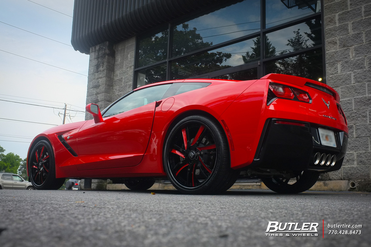 Chevrolet Corvette with 22in Lexani LF736 Wheels