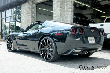 Chevrolet Corvette with 22in Lexani LZ-101 Wheels