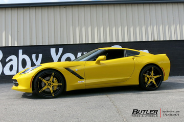 Chevrolet Corvette with 22in Lexani LZ-103 Wheels