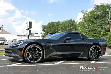 Chevrolet Corvette with 22in Lexani LZ-109 Wheels