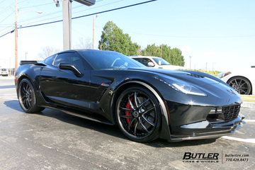 Chevrolet Corvette with 22in Savini SV40 Wheels