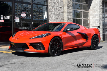 Chevrolet Corvette with 22in Vossen HF-2 Wheels