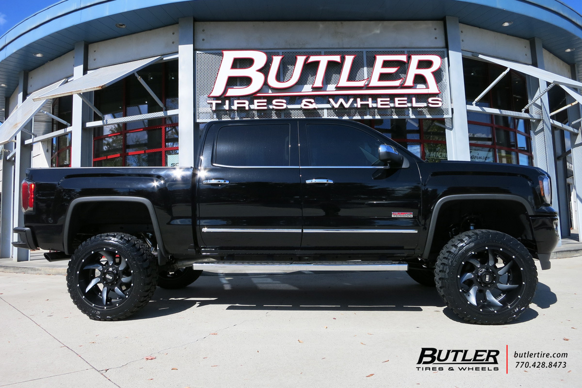 GMC Sierra with 22in Grid Offroad GD1 Wheels exclusively from