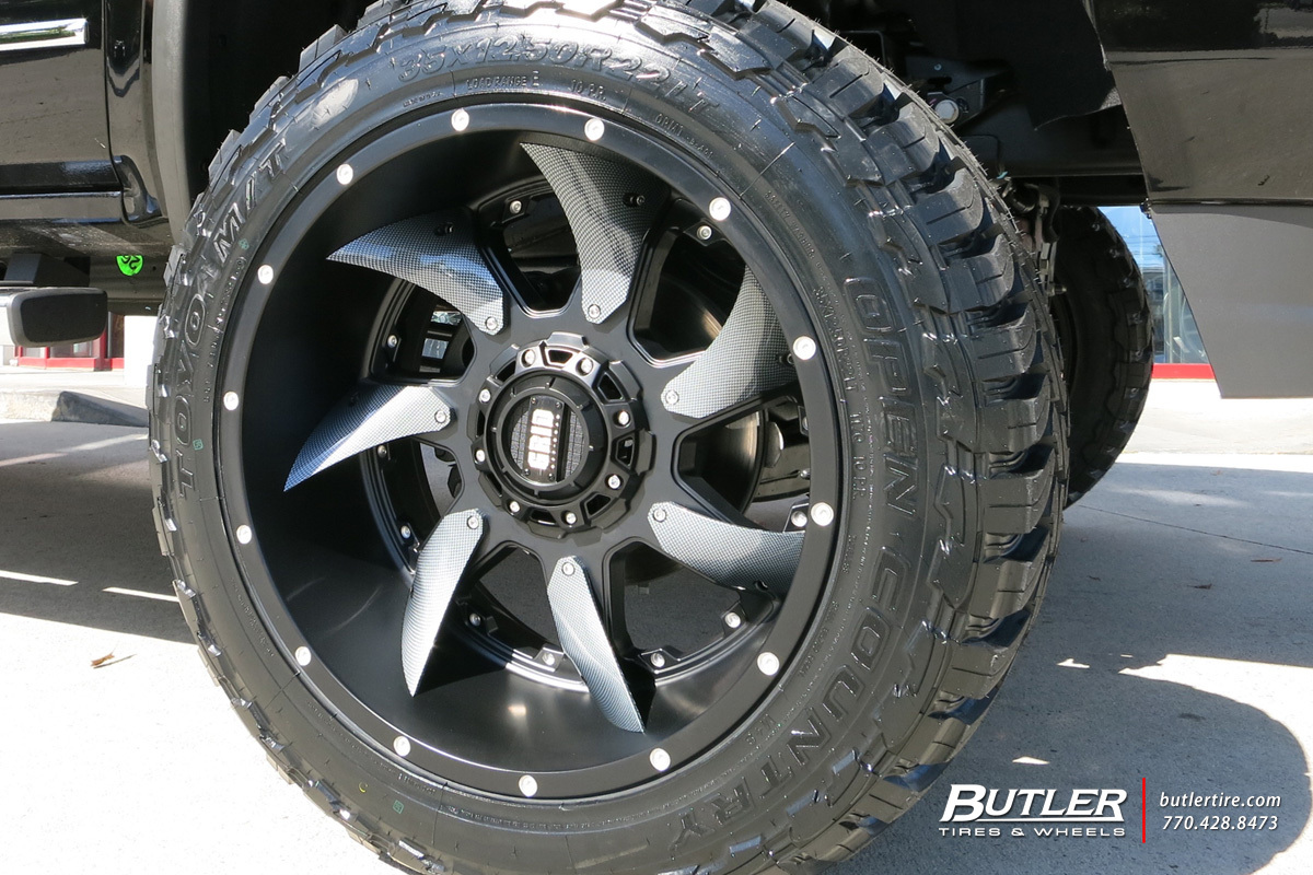 Grid Gd1 Wheels >> GMC Sierra with 22in Grid Offroad GD1 Wheels exclusively from Butler Tires and Wheels in Atlanta ...