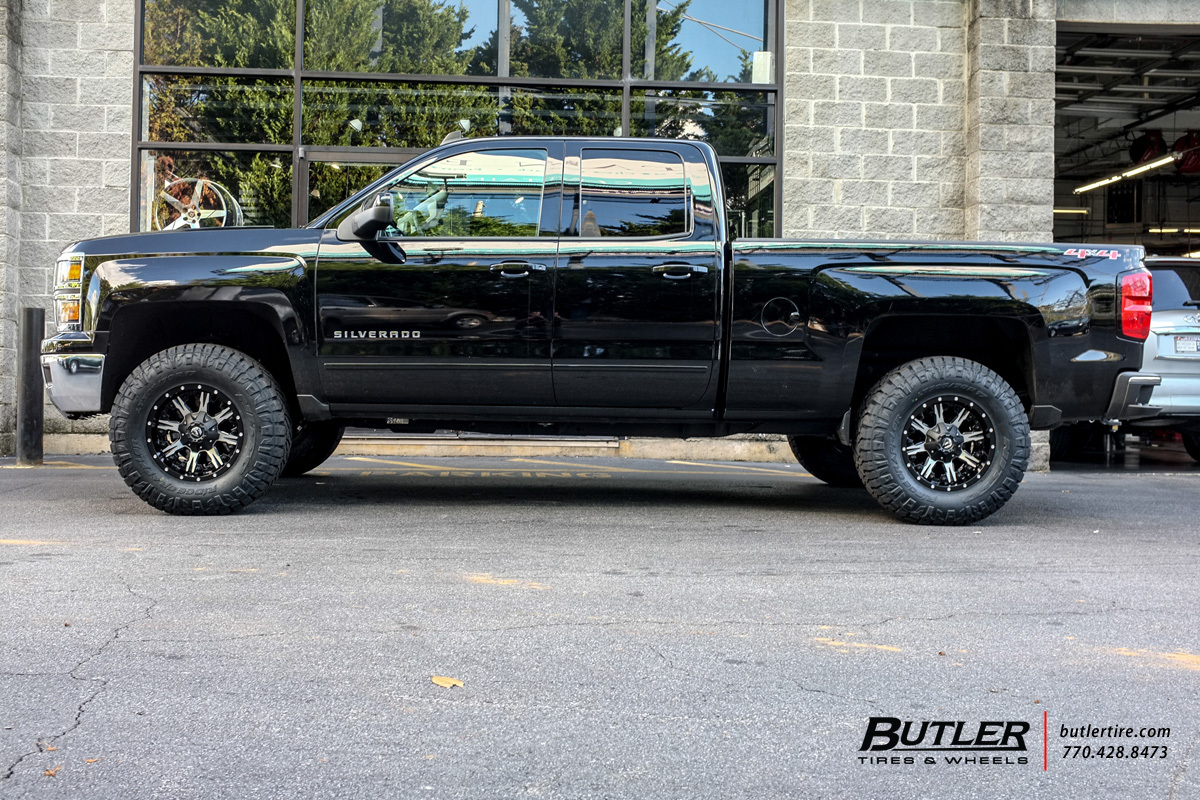 Chevrolet Silverado with 17in Fuel Nutz Wheels