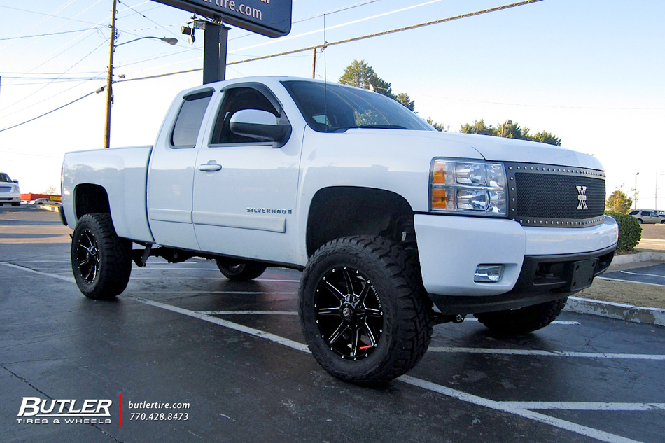 chevrolet silverado   ballistic razorback wheels exclusively  butler tires