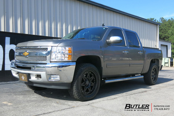 Chevrolet Silverado with 20in Black Rhino Hammer Wheels