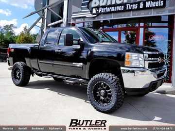 Chevrolet Silverado with 20in Black Rhino Lucerne Wheels