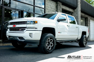 Chevrolet Silverado with 20in Black Rhino Magnus Wheels