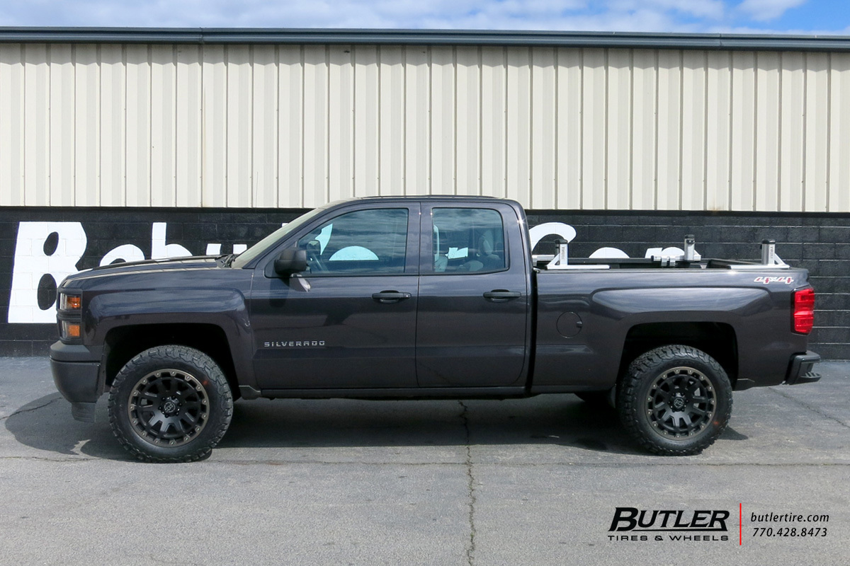 Chevrolet Silverado With 20in Black Rhino Razorback Wheels