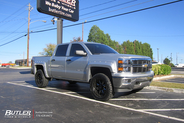 Chevrolet Silverado with 20in Black Rhino Sierra Wheels