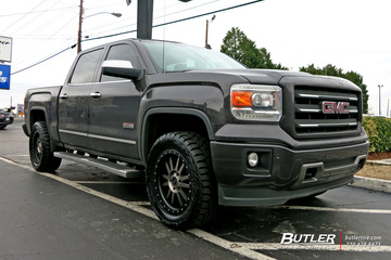 Chevrolet Silverado with 20in Black Rhino Tanay Wheels