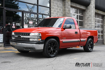 Chevrolet Silverado with 20in Black Rhino Tembe Wheels