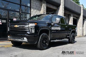 Chevrolet Silverado with 20in Fuel Contra Wheels