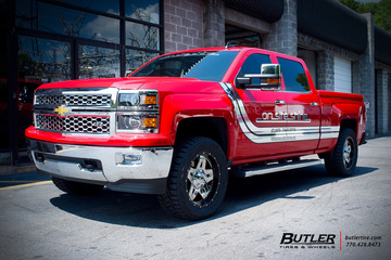 Chevrolet Silverado with 20in Fuel Full Blown Wheels