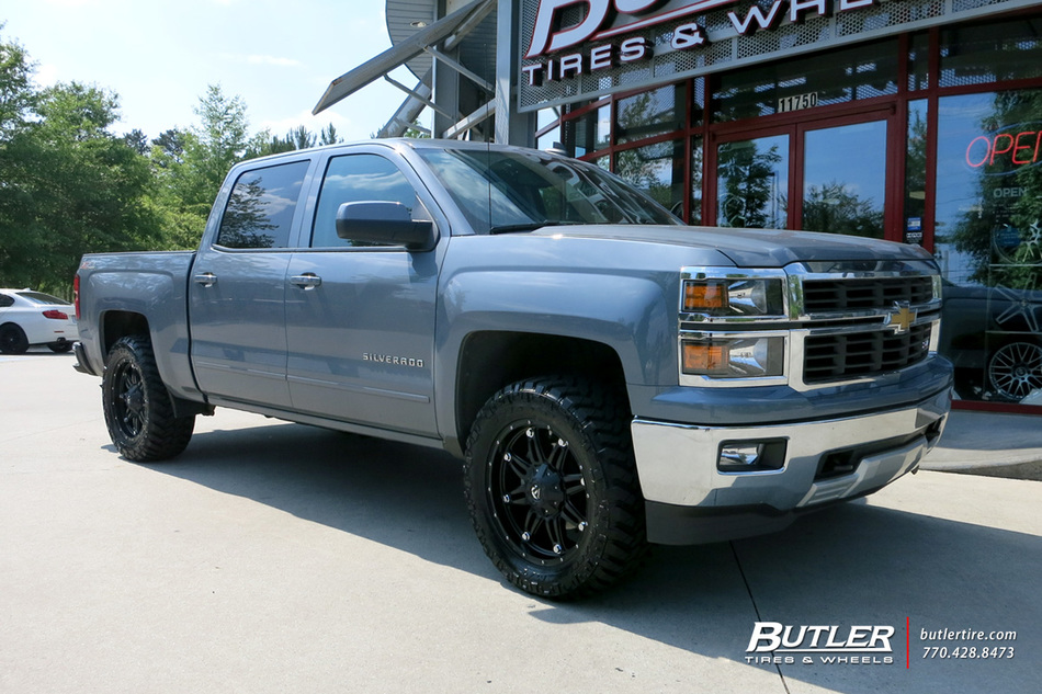 Chevrolet Silverado with 20in Fuel Hostage Wheels exclusively from Butler Tires and Wheels in ...