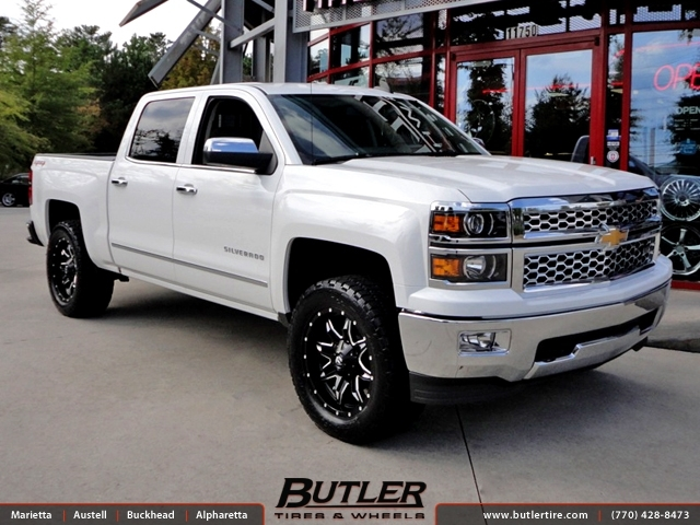 Chevrolet Silverado with 20in Fuel Lethal Wheels