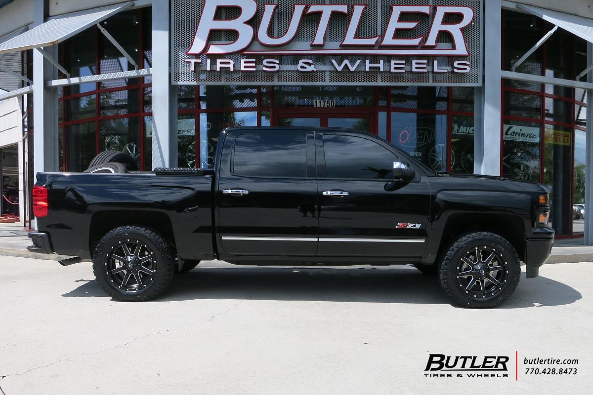 Chevrolet Silverado with 20in Fuel Maverick Wheels exclusively