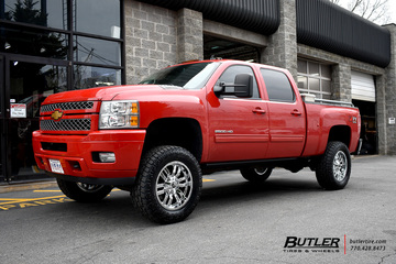 Chevrolet Silverado with 20in Fuel Sledge Wheels