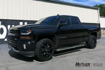 Chevrolet Silverado with 20in Fuel Stroke Wheels